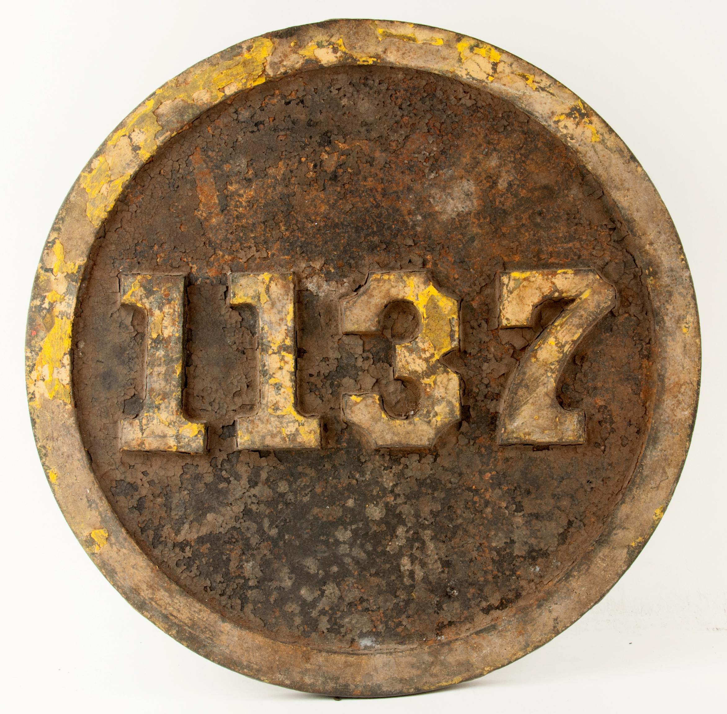 Prr Number Plate 1137 L1s 2 8 2 Mikado Locomotive Manifest Auctions