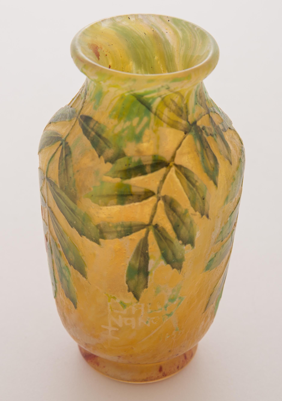 Lot 12 Daum Nancy Leaves And Berries Vase Manifest