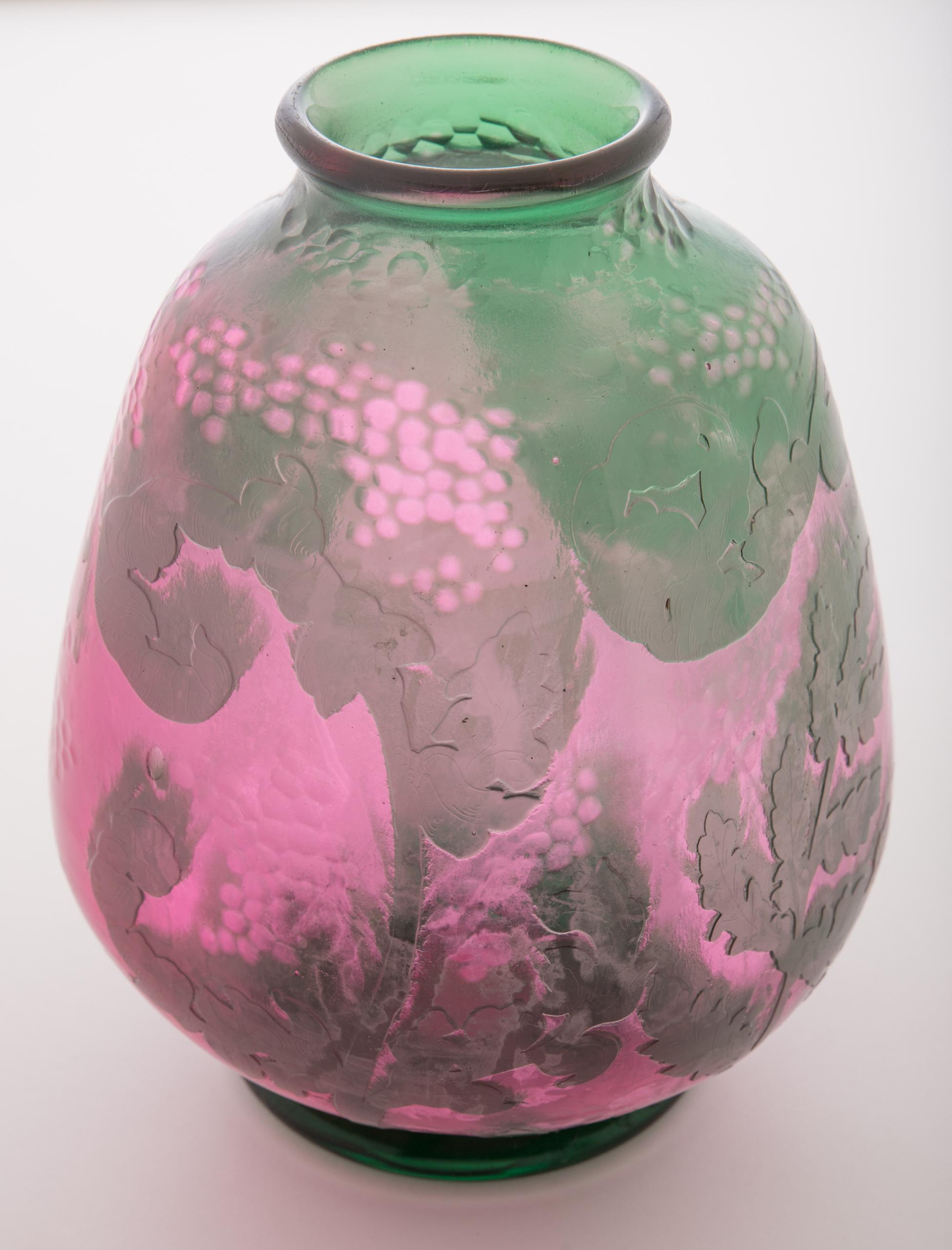 Lot 22 Daum Nancy Martele Vase Manifest Auctions