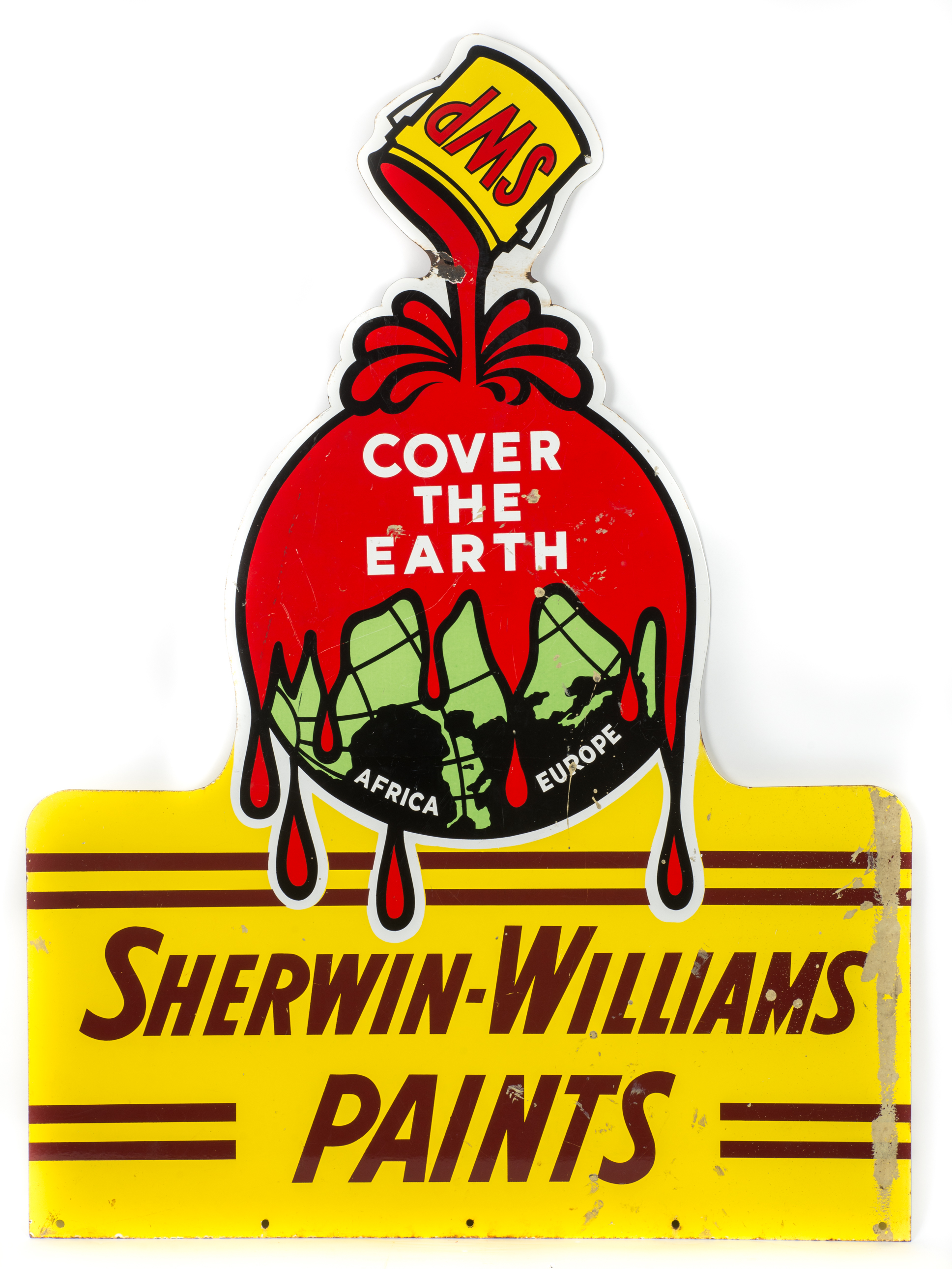Lot 506 Sherwin Williams Die Cut Porcelain Sign