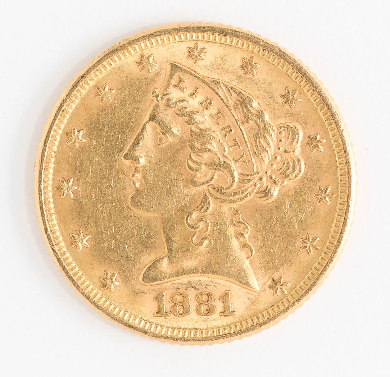Lot 30 1881 5 Liberty Gold Coin Manifest Auctions