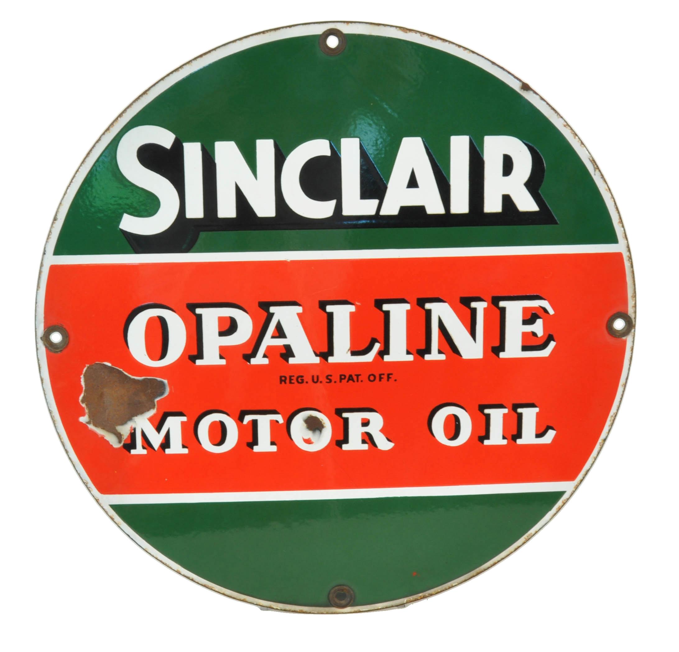 ... Sinclair Opaline Motor Oil Porcelain Sign. Previous; Next