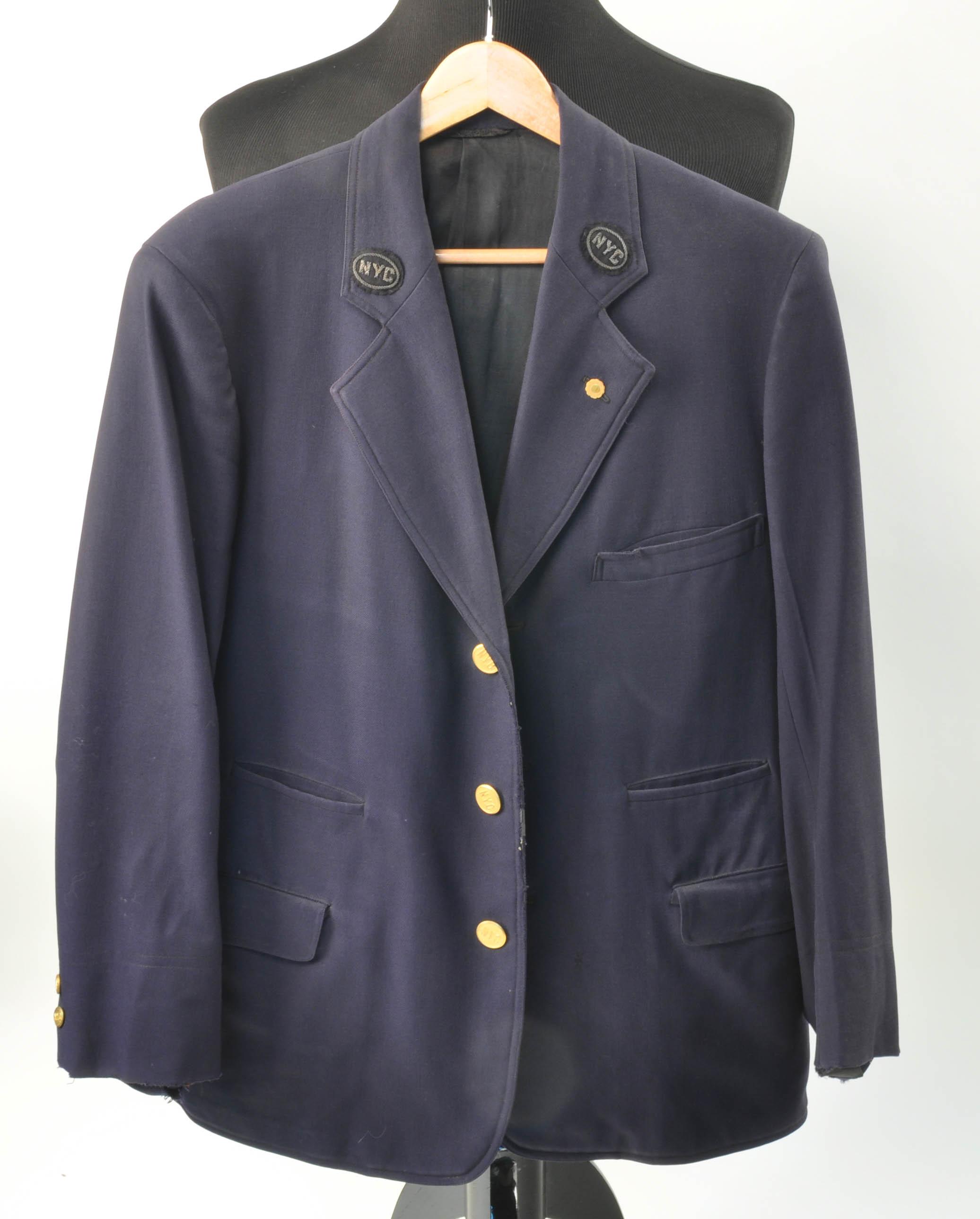 Vintage ny central railroad coat