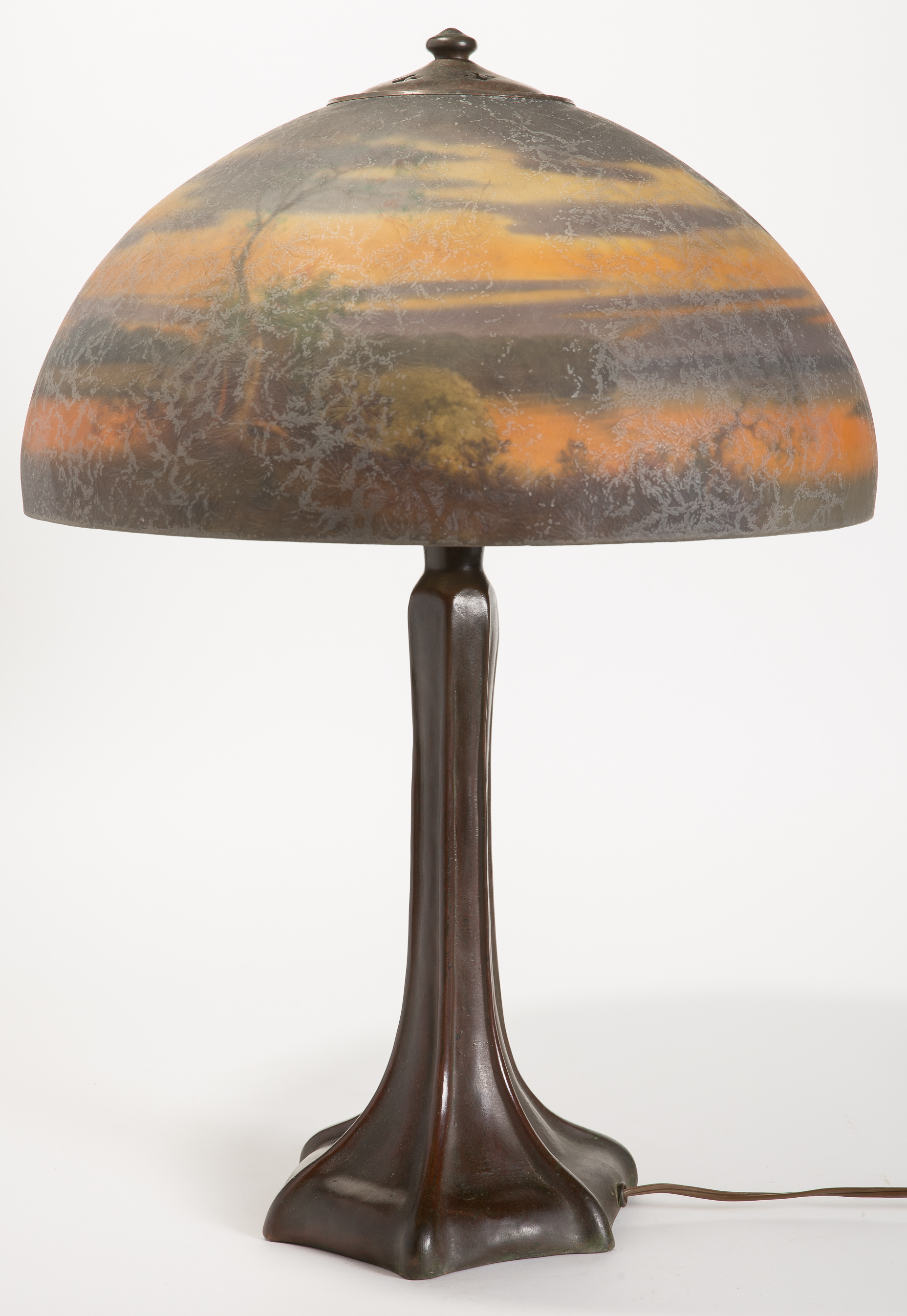 Lot 4 Handel Landscape Table Lamp 6961 Manifest Auctions